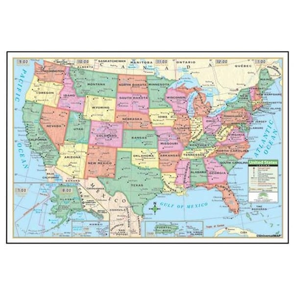 Laminated United States Map.Shop Universal Map 15008 40 X 28 Inch Us Laminated Rolled Map