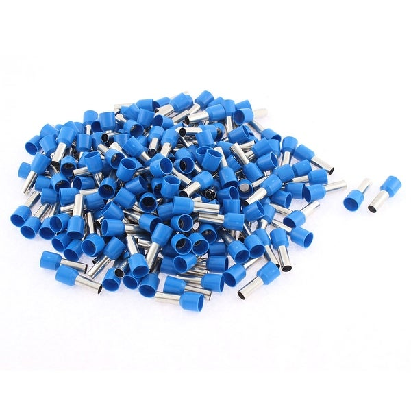 Unique Bargains E10-12 8AWG Wire Crimp Connector Insulated Ferrule Pin Cord Terminal Blue 200Pcs
