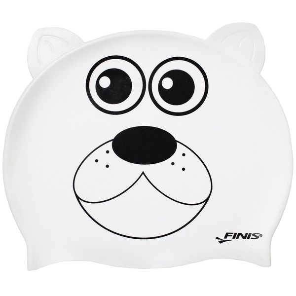 FINIS Youth Animal Head Swim Cap - Polar Bear
