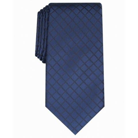 Perry Ellis Men's Alvan Solid Tie Navy Size Regular