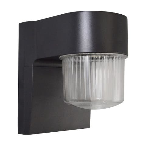"700 Lumen LED Switch Activated Security Light - Bronze - 5.75"" D X 4.5"" W X 6.25"" H - 5.75"" D X 4.5"" W X 6.25"" H"