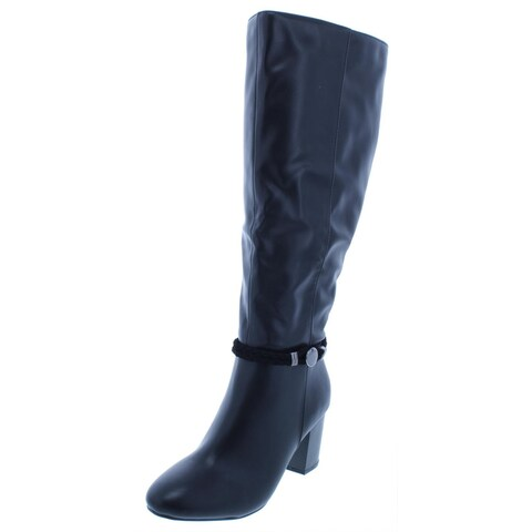 Karen Scott Womens Galee Dress Boots Wide Calf Knee-High