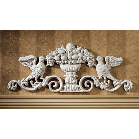 Design Toscano Urn Ornamental Iron Architectural Pediment