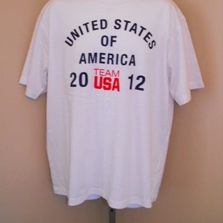 Mended- Team USA Olympics 2012 Youth Medium M (10/12) White Shirt