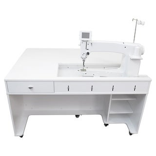 Arrow Model 1311 Quilty Long Arm Sit Down Cabinet - White