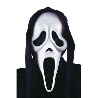Fun World Ghost Face Mask With Shroud - WHITE/BLACK