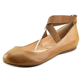 Jessica Simpson Mandayss Women Round Toe Synthetic Brown Flats