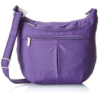 Travelon Anti-Theft Classic Slouch Hobo, Purple