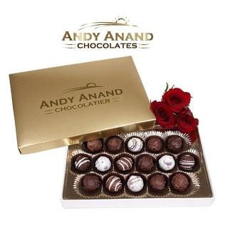 Andy Anand Chocolate Belgian Sugar Free Truffles 16 Pieces