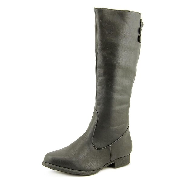 Judith Reina Round Toe Synthetic Knee High Boot