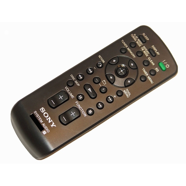 OEM Sony Remote Control Originally Shipped With: HCDZX66I, HCD-ZX66I, HCDZT4, HCD-ZT4