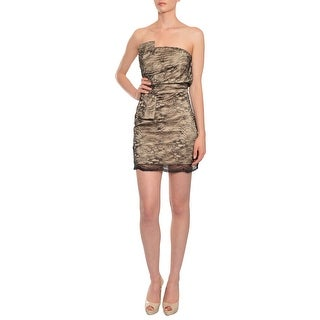 A.B.S. Tailored Lace Fitted Strapless Cocktail Eve Dress