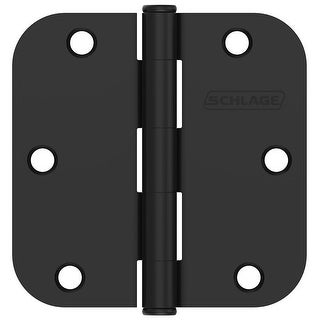 "Schlage 1011  3-1/2"" x 3-1/2"" Plain Bearing 5/8"" Radius Corner Mortise Hinges - Pack of 3"