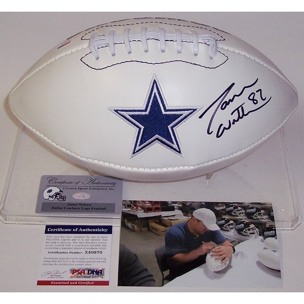 7acfddfa5 Shop Jason Witten Autographed Hand Signed Dallas Cowboys Logo Football -  PSA/DNA - Free Shipping Today - Overstock - 13073151