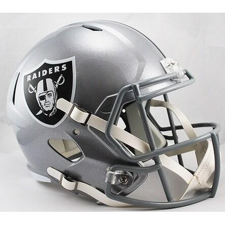 Oakland Raiders Riddell Full Size Deluxe Replica Speed Football Helmet