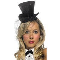 Mini Glitter Top Hat, Costume Top Hat - One Size Fits most
