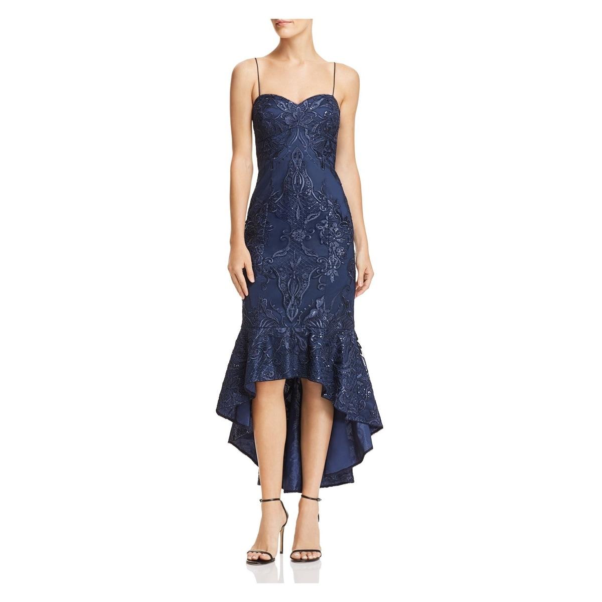 Aidan by Aidan Mattox Womens Hi Lo Beaded Dress