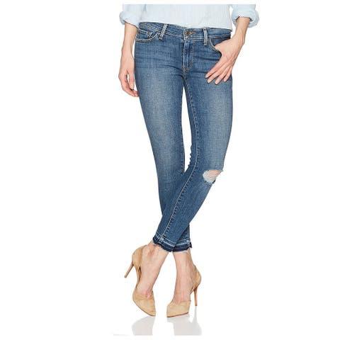 LEVI'S Womens Blue Skinny Jeans Size 34 Waist