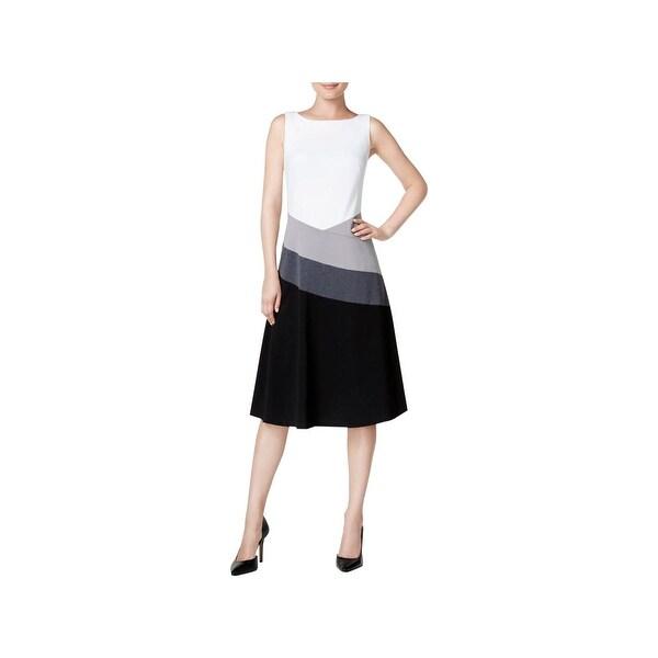 Shop Calvin Klein Womens Wear To Work Dress Sleeveless A