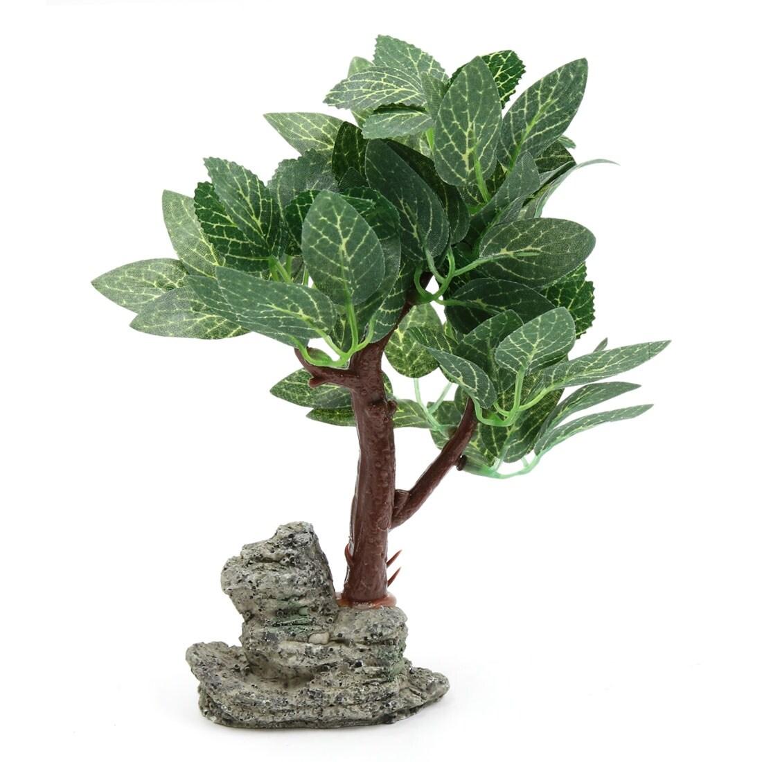 Aquarium Betta Tank Aquascape Lifelike Tree Decor Green W Resin Base Green Middle Size Overstock 24152487