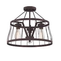 Designers Fountain 86811 Brooklyn 3-Light Semi-Flush Ceiling Fixture - Bronze - n/a