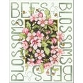 "Bucilla Bees and Blossoms Stamped Cross Stitch Kit - Green - 151/2"" x 11-3/4"" - Thumbnail 0"