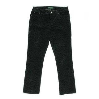 LRL Lauren Jeans Co. Womens Petites Slimming Modern Fit Corduroy Pants - 12P