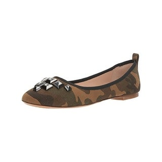 Marc Jacobs Womens Flats Studded Camouflage - 6 medium (b,m)