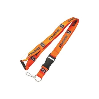 Syracuse Orangemen Clip Lanyard Keychain Id Ticket Holder NCAA - Orange