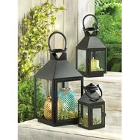 Classic Black Candle Lanterns