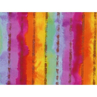 """Pack of 1, Rainbow Stripe Gift Wrap 24"""" x 833' Gift Wrap Full Ream Roll for Party, Kids' Birthday, Wedding & Occasion"""