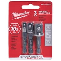 Milwaukee 3Pc Socket Adapter Set