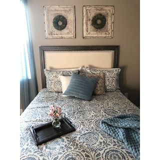 Shop Echo Design Kamala Blue Cotton Duvet Cover Mini Set