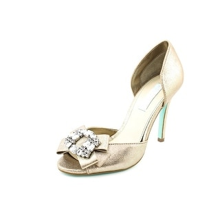 Betsey Johnson Glam Open Toe Leather Sandals