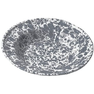 """Crow Canyon D19GYM Raised Salad Plate, 8"""" Diameter, Grey Marble"""