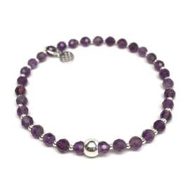 Purple Amethyst 'Kara' Stretch Bracelet, Sterling Silver