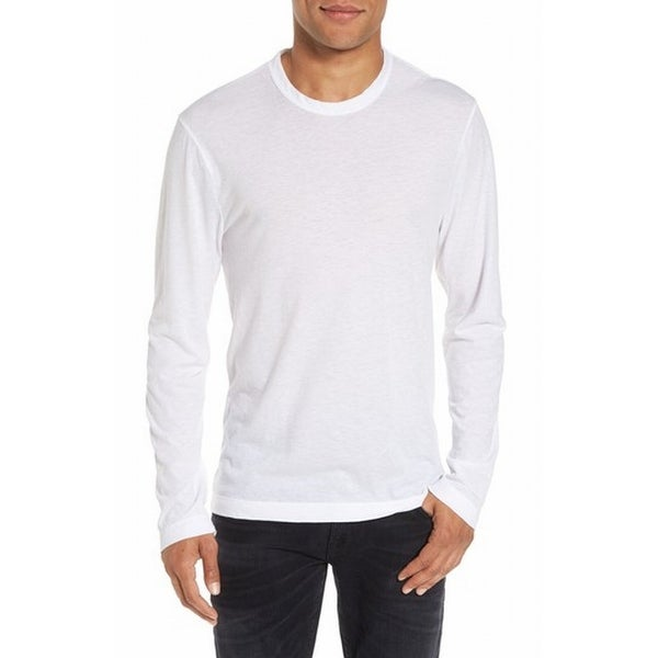 Shop James Perse New White Mens Size 3 Us Large L Crewneck Basic Tee