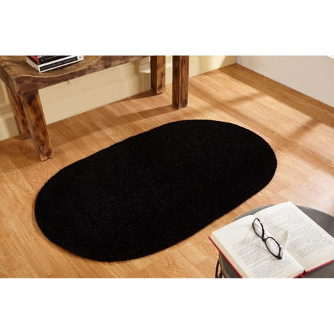 Better Trends Chenille Solid Braid Collection is Durable and Stain Resistant Reversible Indoor Area Utility Rug
