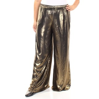 MSK $69 Womens New 1296 Gold Wide Leg Pants XL B+B