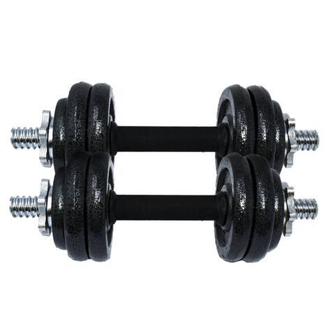 ALEKO Cast Iron Adjustable Dumbbell Set for Home Gym - 33 lbs (15 kg)