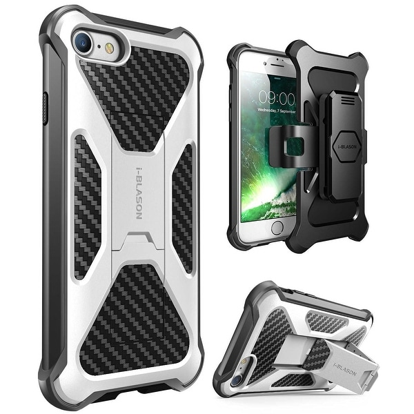 iPhone 7 Case-Transformer [Kickstand] Holster Case, Iphone 7 Case-White