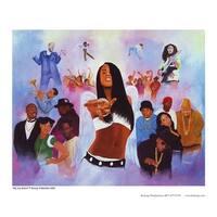 ''Hip-Hop Heaven (mini)'' by Kolongi Brathwaite African American Art Print (8.5 x 10.5 in.)
