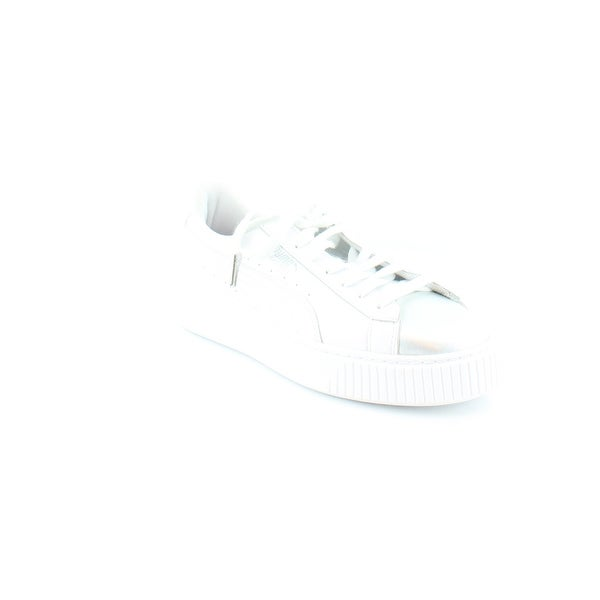 the best attitude 094e3 535ee Puma Basket Platform Women's Fashion Sneakers White-Bluefish
