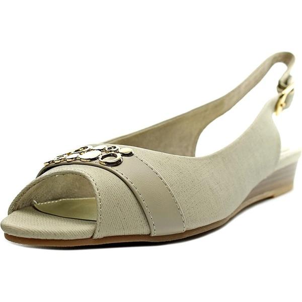 Easy Street Imprompt Women WW Open-Toe Synthetic Slingback Heel