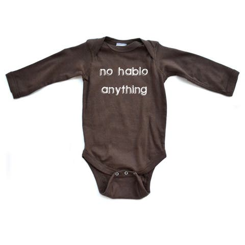 Hilarious No Hablo Anything I DonT Speak Infant Baby Cute Soft Long Sleeve Bodysuit
