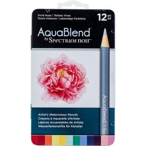 Spectrum Noir Aquablend Pencils 12Pcs-Vivid Hues