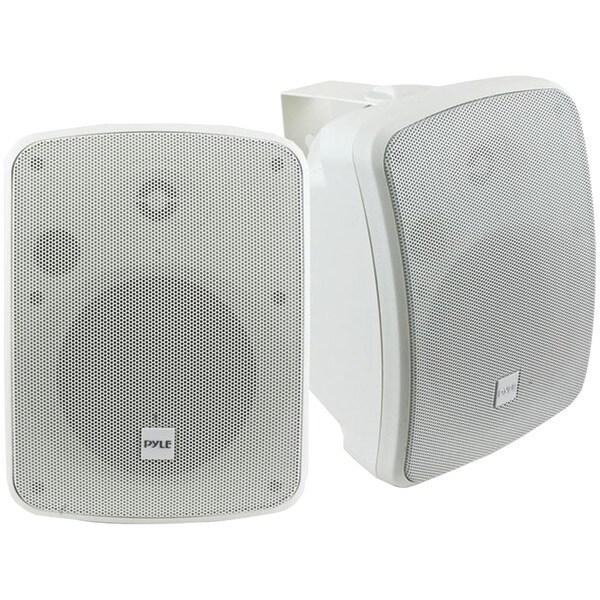 """PYLE HOME PDWR54BTW 5.25"""" Indoor/Outdoor 600-Watt Bluetooth(R) Speaker System (White)"""