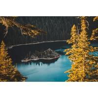 Trees And Lake Photograph Wall Art Canvas