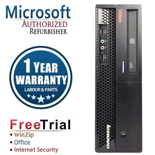 Lenovo M58P Desktop Computer SFF Intel Core 2 Duo E8400 3.0G 4GB DDR3 160G Windows 10 Pro 1 Year Warranty (Refurbished) - Black