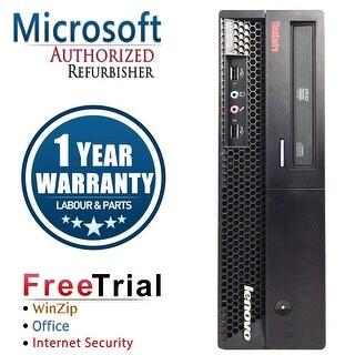 Lenovo M58P Desktop Computer SFF Intel Core 2 Duo E8400 3.0G 4GB DDR3 160G Windows 7 Pro 1 Year Warranty (Refurbished) - Black